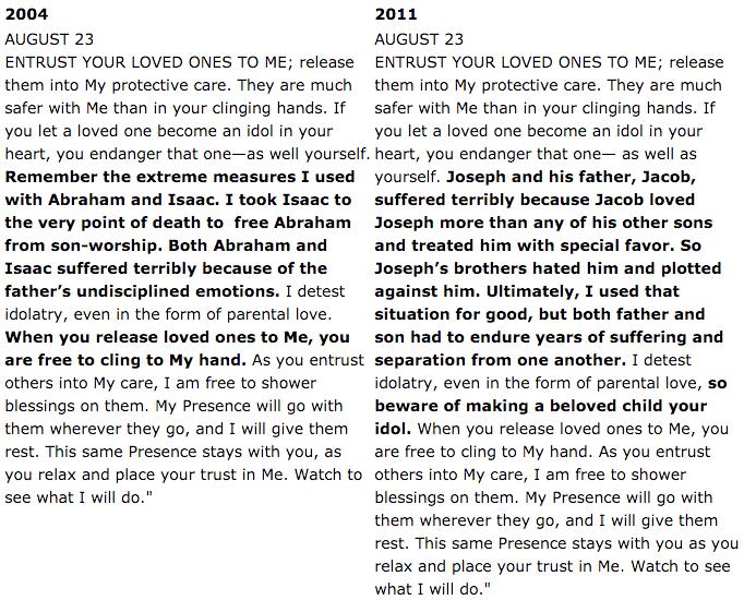 Jesus Calling Comparison