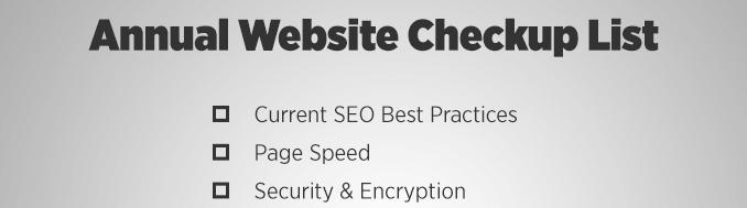 Website Annual Checklist