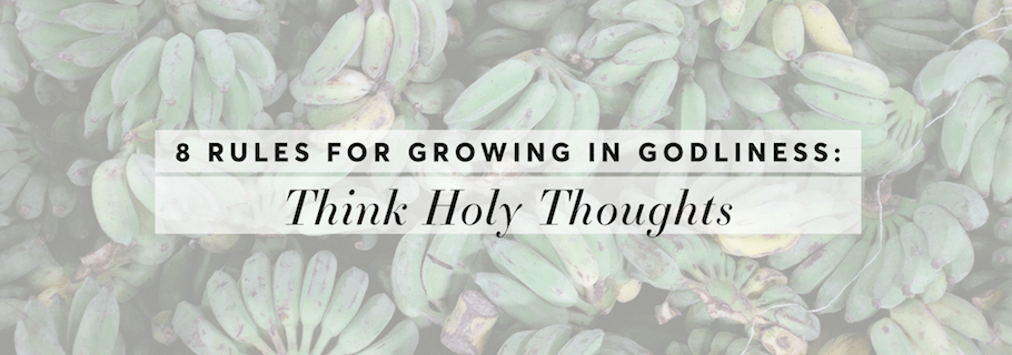 Rule #3: Think Holy Thoughts (8 Rules for Growing in Godliness)