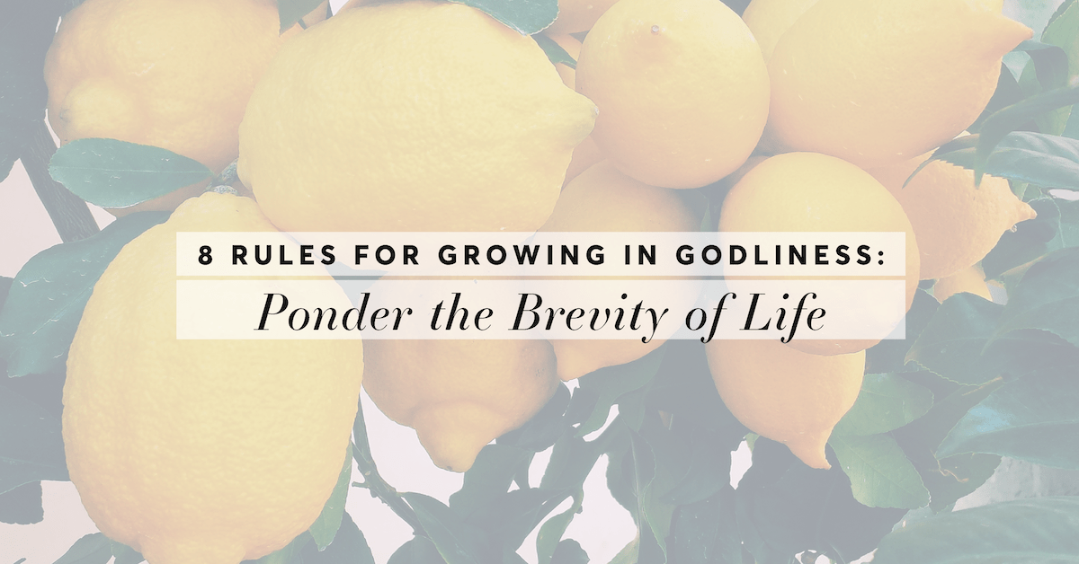 Rule #5: Ponder the Brevity of Life (8 Rules for Growing in Godliness)