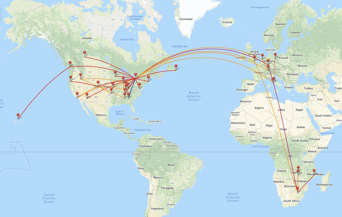 Travel Map 2019