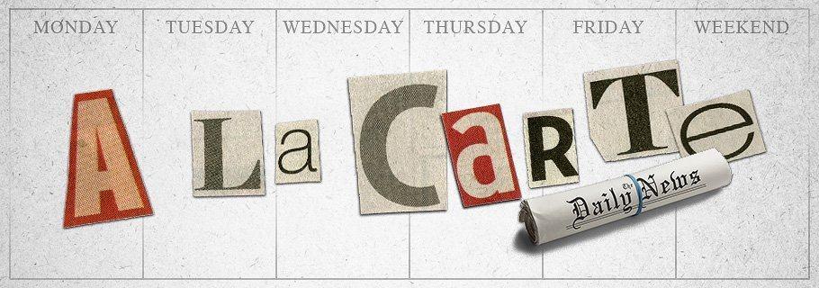 Weekend A La Carte (June 3)