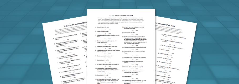 Theological Quizzes in PDF Format | Tim Challies